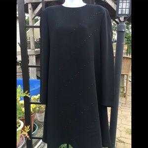 Jones New York beaded black flare size 10 dress